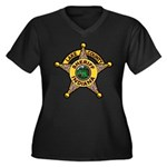 Lake County Sheriff Women's Plus Size V-Neck Dark