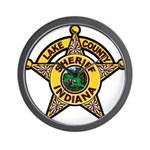 Lake County Sheriff Wall Clock