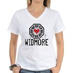 I Heart Widmore - LOST Women's V-Neck T-Shirt