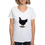 Jersey Giant: Black Hen Women's V-Neck T-Shirt