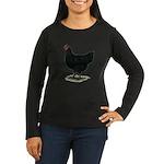 Jersey Giant: Black Hen Women's Long Sleeve Dark T
