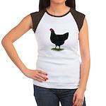 Jersey Giant: Black Hen Women's Cap Sleeve T-Shirt