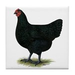 Jersey Giant: Black Hen Tile Coaster