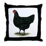 Jersey Giant: Black Hen Throw Pillow