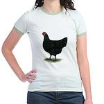 Jersey Giant: Black Hen Jr. Ringer T-Shirt