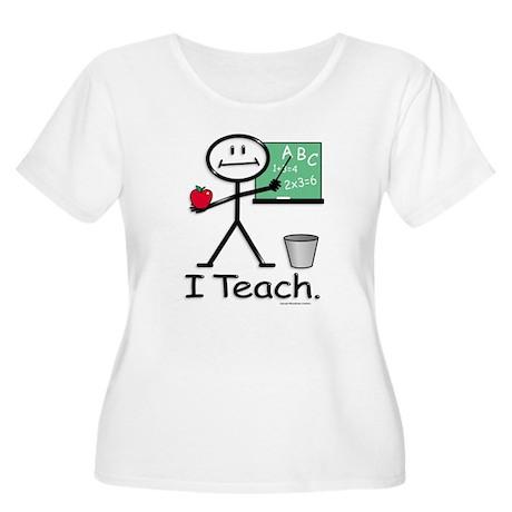 BusyBodies Teacher Women's Plus Size Scoop Neck T-