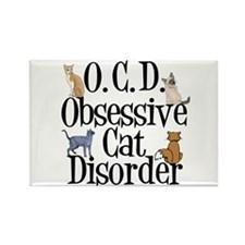 Obsessive Cat Disorder Rectangle Magnet