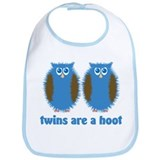 Boy Twin Owls Bib