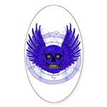 BLUE SKULL 13 Sticker (Oval)