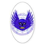BLUE SKULL 13 Sticker (Oval)