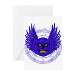 BLUE SKULL 13 Greeting Card