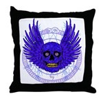 BLUE SKULL 13 Throw Pillow