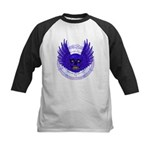 BLUE SKULL 13 Kids Baseball Jersey