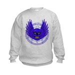 BLUE SKULL 13 Kids Sweatshirt