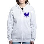BLUE SKULL 13 Women's Zip Hoodie