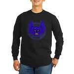 BLUE SKULL 13 Long Sleeve Dark T-Shirt