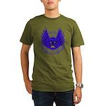BLUE SKULL 13 Organic Men's T-Shirt (dark)
