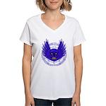 BLUE SKULL 13 Women's V-Neck T-Shirt