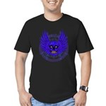 BLUE SKULL 13 Men's Fitted T-Shirt (dark)