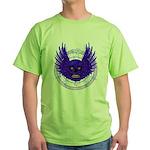 BLUE SKULL 13 Green T-Shirt