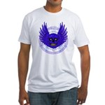 BLUE SKULL 13 Fitted T-Shirt