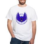 BLUE SKULL 13 White T-Shirt