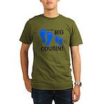 Big Cousin Baby Footprints Organic Men's T-Shirt (