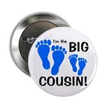 """Big Cousin Baby Footprints 2.25"""" Button"""