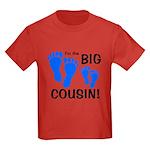 Big Cousin Baby Footprints Kids Dark T-Shirt