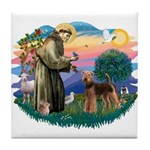 St Francis #2/ Airedale Tile Coaster