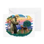 St Francis #2/ Airedale Greeting Cards (Pk of 20)
