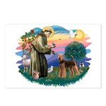 St Francis #2/ Airedale Postcards (Package of 8)