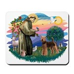 St Francis #2/ Airedale Mousepad