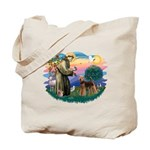 St Francis #2/ Airedale Tote Bag