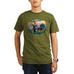 St Francis #2/ Airedale Organic Men's T-Shirt (dar