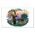 St Francis #2/ Airedale Sticker (Rectangle 10 pk)