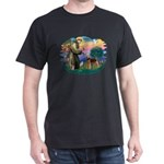 St Francis #2/ Airedale Dark T-Shirt