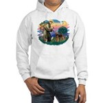 St Francis #2/ Airedale Hooded Sweatshirt