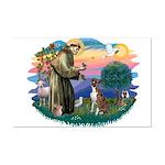 St Francis #2/ Boxer (nat ears) Mini Poster Print