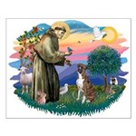 St Francis #2/ Boxer (nat ears) Small Poster