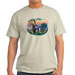 St Francis #2/ Boxer (nat ears) Light T-Shirt