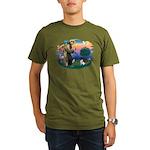 St Francis #2/ Fox Terrier Organic Men's T-Shirt (