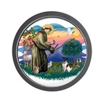 St Francis #2/ Fox Terrier Wall Clock