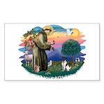 St Francis #2/ Fox Terrier Sticker (Rectangle 10 p