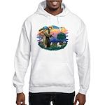 St Francis #2/ Fox Terrier Hooded Sweatshirt