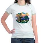 St Francis #2/ Fox Terrier Jr. Ringer T-Shirt