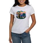 St Francis #2/ Fox Terrier Women's T-Shirt