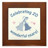 20th Anniversary Bells Framed Tile