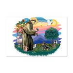 St Francis #2/ Dachshund (BT) Mini Poster Print
