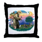St Francis #2/ Dachshund (BT) Throw Pillow
